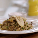 John Torode pearl barley with mushrooms and red miso recipe on John and Lisa's Weekend Kitchen