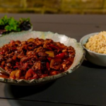 Ian and Henry's Braised Jackfruit Chilli recipe on Living On The Veg