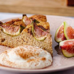 Tonia Buxton fig and almond cake with orange blossom yoghurt recipe on Sunday Brunch