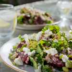 Tom Kerridge beetroot farro salad with Dijon mustard dressing recipe on Lose Weight and Get Fit