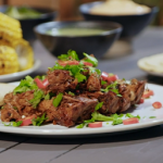 Meriel Armitage's BBQ glazed jackfruit vegan ribs recipe on Living On The Veg