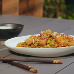 Ian and Henry's Crispy Chilli Tofu with special fried rice recipe on Living On The Veg