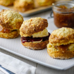Simon Rimmer cheese scones with apple chutney recipe on Sunday Brunch