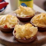 Lisa Faulkner Greek style prawn saganaki pie recipe on John and Lisa's Weekend Kitchen