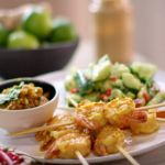 John Torode satay sauce with prawns recipe on John and Lisa's Weekend Kitchen