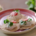 Lisa Faulkner mackerel pate with a cucumber and radish salad recipe on John and Lisa's Weekend Kitchen