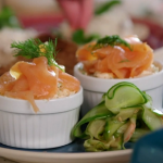John Torode salmon mousse with capers recipe on John and Lisa's Weekend Kitchen