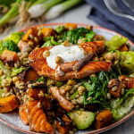 Simon Rimmer Crispy Salmon and Squash Salad recipe on Sunday Brunch