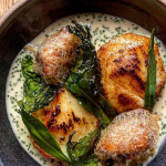 Tommy Banks Honey Glazed Cod Cheeks with Battered Mussels recipe on Sunday Brunch