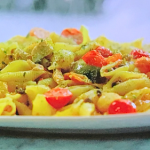 Jamie Oliver Sicilian tuna pasta with capers and cherry tomatoes recipe on Jamie's Quick and Easy Food