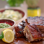 John Torode five hour pork belly with lemon juice recipe on John and Lisa's Weekend Kitchen