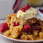 Simon Rimmer caramel apple sponge recipe on Sunday Brunch
