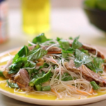 John Torode Vietnamese beef salad with rice noodles recipe on John and Lisa's Weekend Kitchen