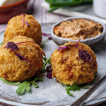 Simon Rimmer Arancini Balls with Creamy Tapenade recipe on Sunday Brunch