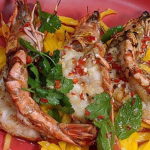 Jeremy Pang Prawn and Mango Salad recipe on Sunday Brunch