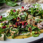 Simon Rimmer Walnut and Smoked Tofu Salad recipe on Sunday Brunch