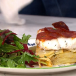 Ainsley Harriott easy oven bake fish with chorizo, potatoes and salad recipe on This Morning