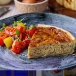 Simon Rimmer Cheddar and Miso Onion Quiche recipe on Sunday Brunch