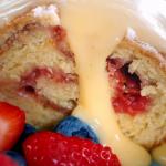 Nadiya Hussain raspberry jam roly poly steamed pudding with custard recipe on Nadiya Bakes
