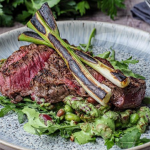 Simon Rimmer Steak with Green Goddess Bean Salad recipe on Sunday Brunch
