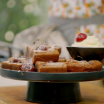 Ainsley Harriott black forest brownies with kirsch cream recipe on Ainsley's Food We Love