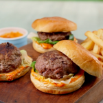 John Gregory Smith loaded cheese burgers recipe on Ainsley's Food We Love
