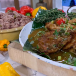 Levi Roots Caribbean brown stew chicken with gravy, rice and peas recipe on This Morning