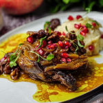 Simon Rimmer duck with walnuts, pomegranate and mash potatoes recipe on Sunday Brunch
