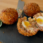 Candice Brown ham hock and apple Scotch egg recipe on Ainsley's Food We Love