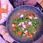 Jack Stein maple roasted butternut squash with feta salad recipe on Steph's Packed Lunch
