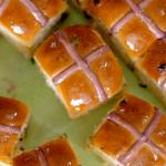 Nadiya Hussain hot cross buns with cranberries, blueberries and a strawberry jam filling recipe on Nadiya Bakes