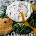 Tim Lovejoy smoked mackerel with poached eggs and spinach recipe on Sunday Brunch