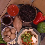 Dean Edwards black bean burrito bowl recipe on Steph's Packed Lunch