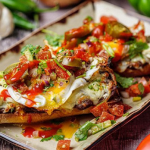 Simon Rimmer molletes with fried eggs, pico de gallo and hot sauce recipe on Sunday Brunch