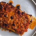 Ixta Belfrage Prawn and Requeijao Lasagne with Dende Chilli Oil recipe on Sunday Brunch