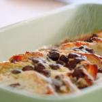 Nadiya Hussain chocolate and lime croissant ice cream pudding recipe on Nadiya Bakes