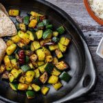Asma Khan courgette sabzi with rice and roti recipe on Sunday Brunch
