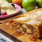 Simon Rimmer apple strudel with rum and brioche recipe on Sunday Brunch