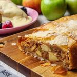 Simon Rimmer apple strudel with rum and brioche recipe on Sunday Brunch