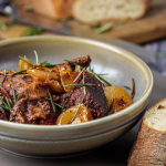 Simon Rimmer beef stifado with red wine and cherry tomatoes recipe on Sunday Brunch