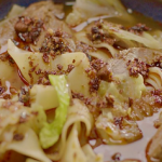 Nigella Lawson wide noodles with lamb shanks aromatic broth recipe on Nigella's Cook, Eat, Repeat