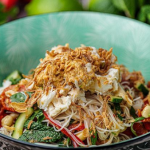 Simon Rimmer Crab Noodle and Peanut Salad recipe on Sunday Brunch