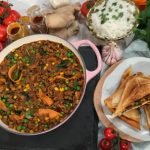Nisha Katona spicy lamb keema with rice and a keema toastie recipe on This Morning