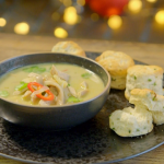Ainsley Harriott Thai-style turkey broth with chillies recipe on Ainsley's Festive Food We Love