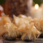 Lisa Faulkner Christmas pudding bon bons with brandy cream recipe on John and Lisa's Weekend Kitchen