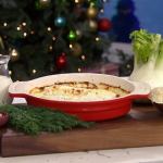 Clodagh McKenna Christmas fish pie with fennel and cheese recipe on This Morning