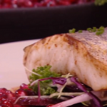 Jack Stein hake with a warm winter salad recipe on Steph's Packed Lunch