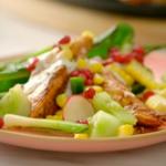 Nadiya Hussain warm grilled chicken salad with a Latin inspired salsa recipe on Nadiya's American Adventure