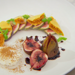 Marcus Wareing poached figs with honeycomb and flavoured cream recipe on Masterchef The Professionals