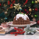 Juliet Sear alternative Christmas pudding with Swiss rolls and salted caramel ice cream recipe on This Morning